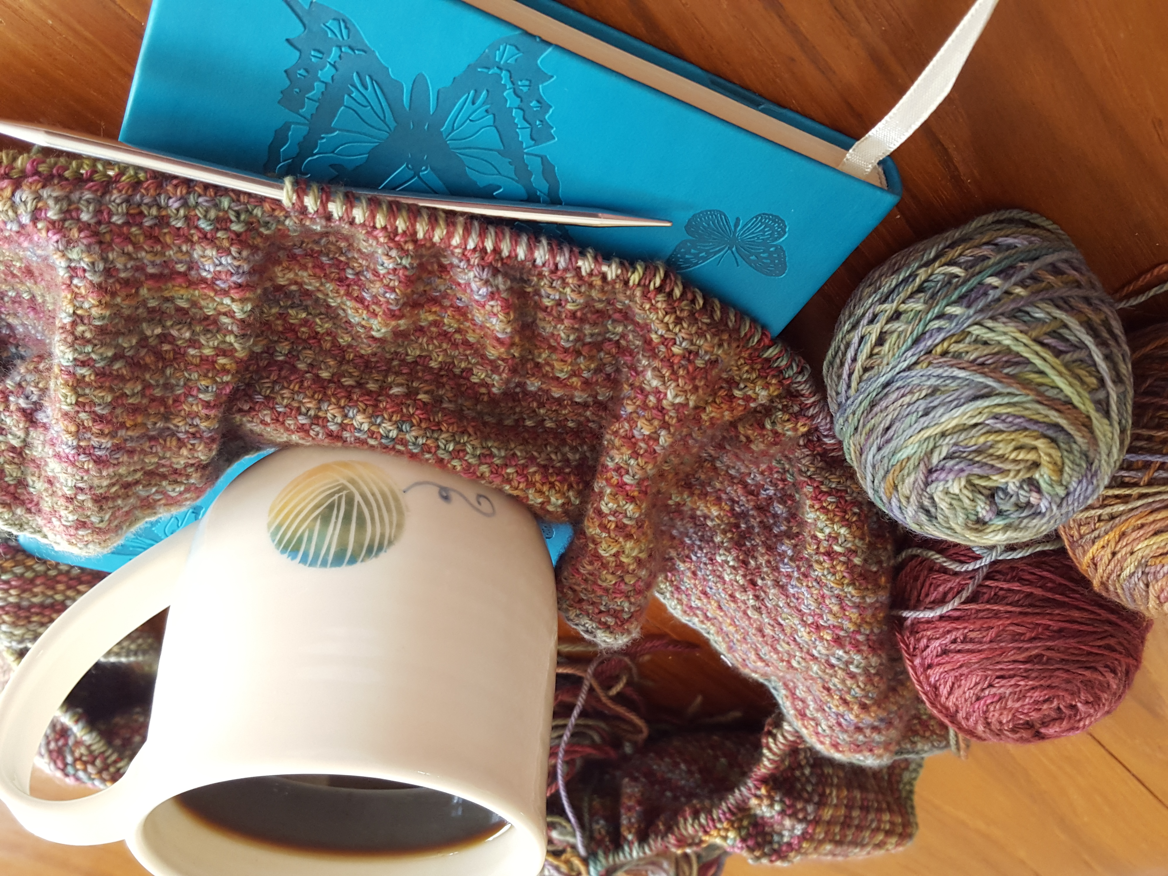 Coffee and Knitting and Planning
