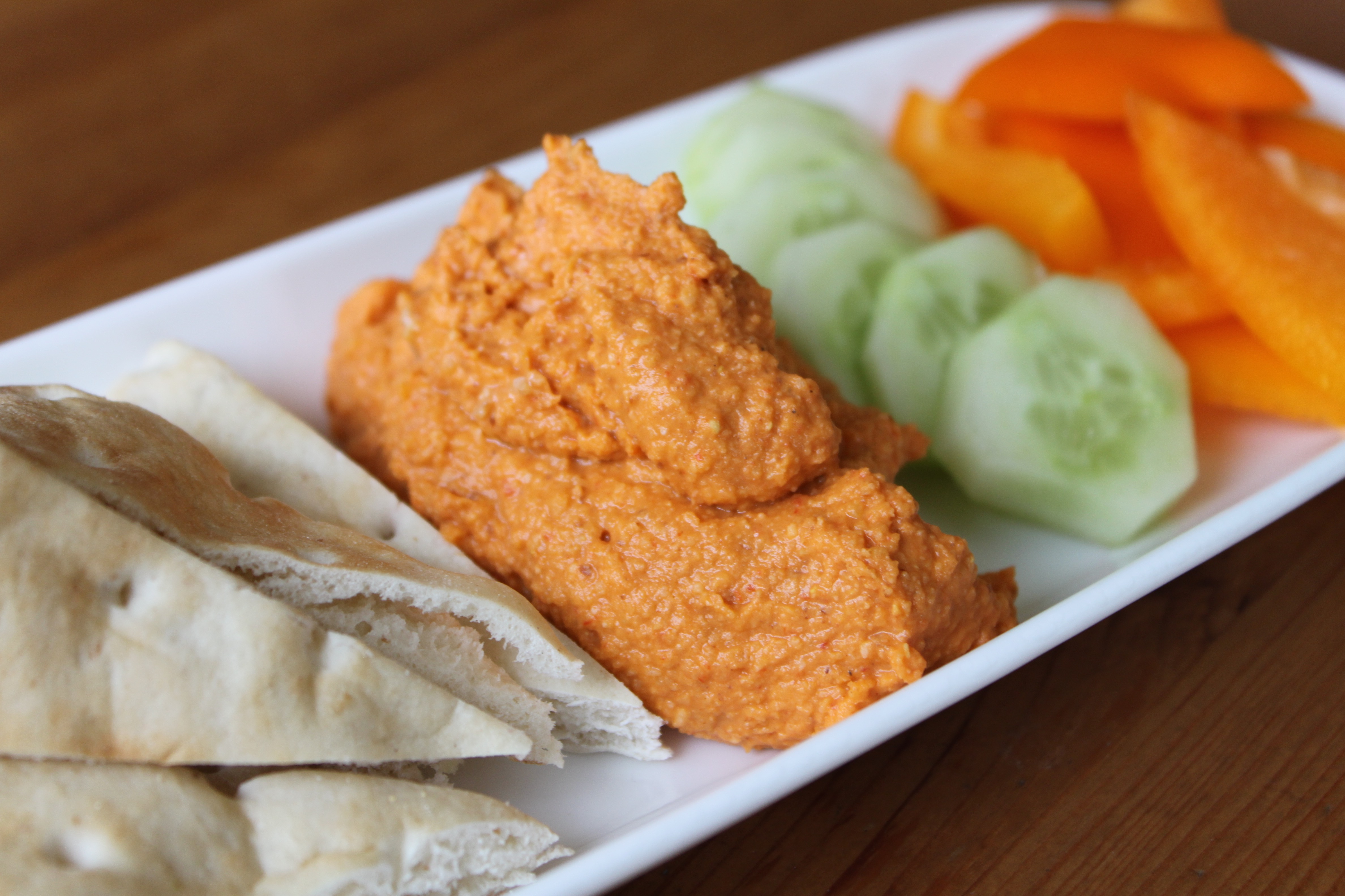 Roasted Red Pepper and Almond Hummus